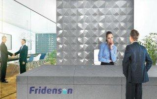 עיצוב עמדת קבלה במבנה משרדים