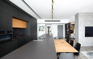 עיצוב מטבח בדירת יוקרה