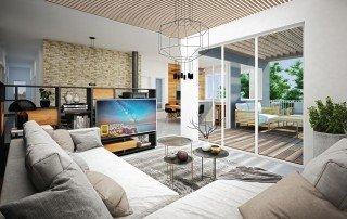 אדריכלות באלישיב- מבט מהסלון