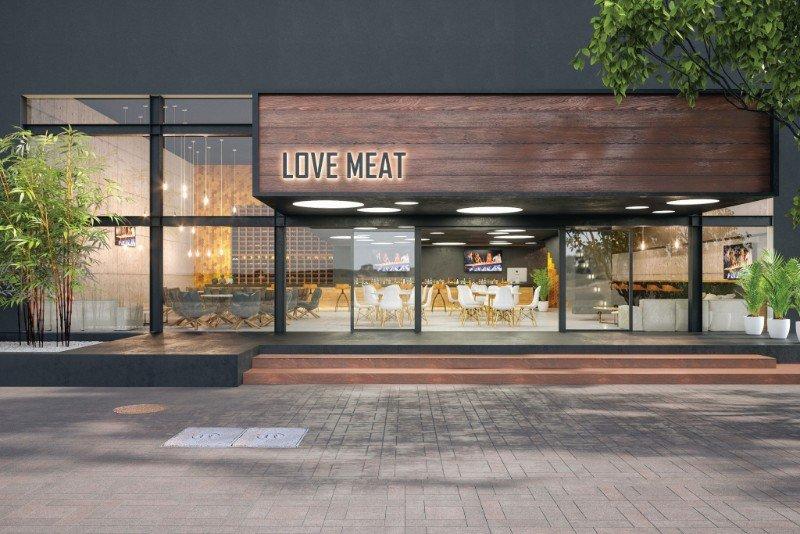 עיצוב מסעדה - LOVE MEAT - טלי זרחיה פרומוביץ - אדריכלות ועיצוב