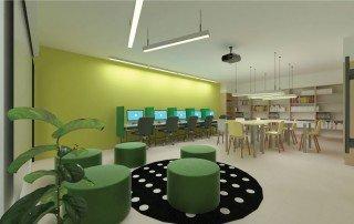 תכנון ספריה בית ספר ביהוד