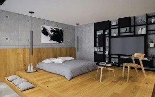 עיצוב בית פרטי מבט אל חדר השינה