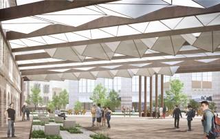 תכנון כיכר קהילתית- מבט ביום חול