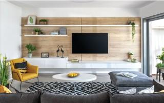 עיצוב סלון בית פרטי