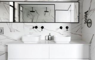 עיצוב סוויטת הורים מקלחת פתוחה