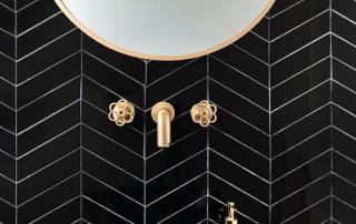 עיצוב שירותי אורחים שחור זהב