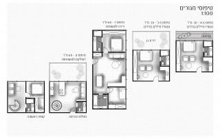 תכנון דירות המגורים- מגורי חיילים בודדים ודירות למשפחות