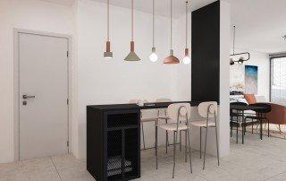 עיצוב בר מסגרות במטבח