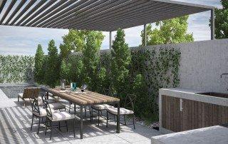 תכנון ועיצוב הגינה האחורית