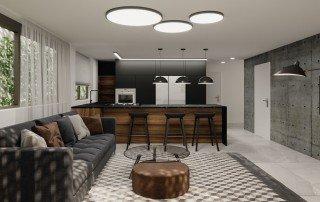 עיצוב חדר במרתף