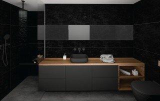 עיצוב חדר שינה שחור