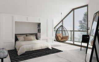 תכנון חדר שינה על הגג