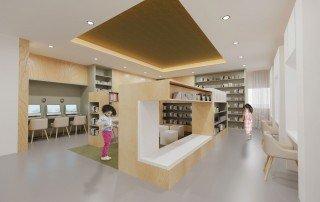 עיצוב ספריית בית ספר