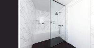 עיצוב חדר רחצה מינימליסטי