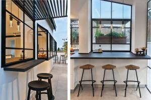 עיצוב חלון קיוסק באזור הגג