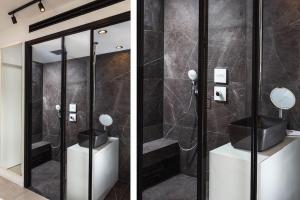 עיצוב חדר רחצה שחור